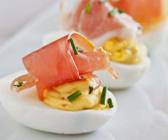 Spicy-Ham-Stuffed-Eggs